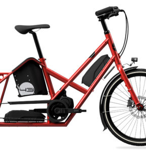 Red Bike43 dual battery close up
