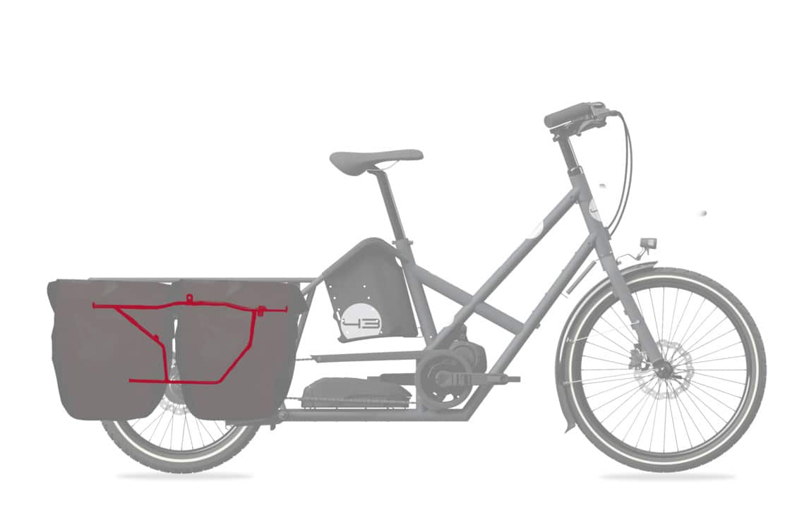 Rear low rider longtail bike43 cargobike vélo cargo lastenrad